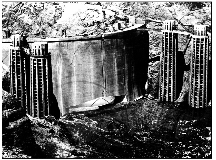 Fig. 5 - Hoover Dam, cut (back)