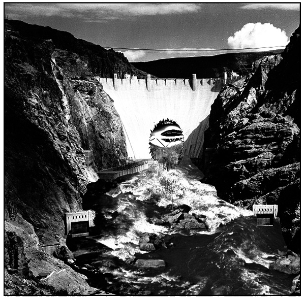 Fig. 4 - Hoover Dam, cut (front)