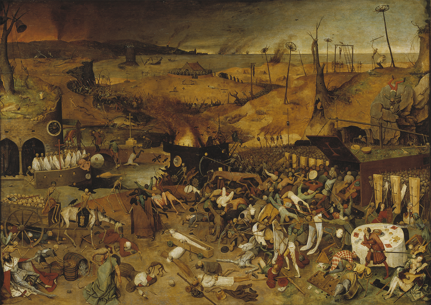Fig. 2: A scene from The Trimuph of Death. Pieter Bruegel the Elder, 1562.