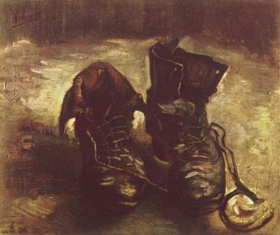 Fig. 2: Old Shoes With Laces (Vincent Van Gogh, 1886).