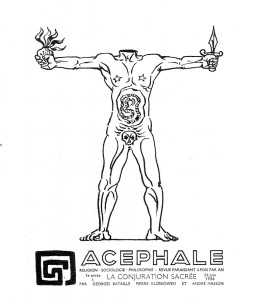 Fig. 2: Acéphale (1936). Cover image by André Masson.